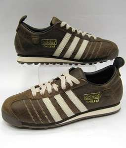 Adidas Originals Chile 62 LEA Vintage Trainers in Brown UK 8,9,10
