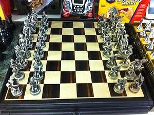 Set Pieces with Board Civil War Pewter & Checkers New in Box