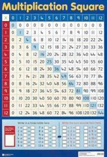 Information on Multiplication Square (Wall Chart) – Product