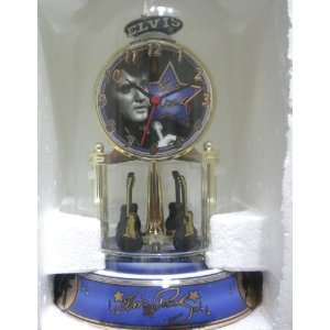 Elvis Presley Porcelain Anniversary Collectible Clock