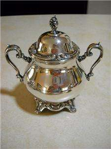 Wm Rogers & Son Silver Hollowware Coffee/Tea Set & Service Tray 5 pc