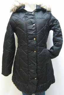 BABY PHAT MIDLENGTH QUILTED DOWN JACKET, BLACK, MEDIUM