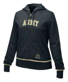 Army Black Knights Womens Nike Black Classic Full Zip Hoodie