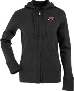 Chicago Bulls Womens Black Signature Full Zip Hooded Sweatshirt