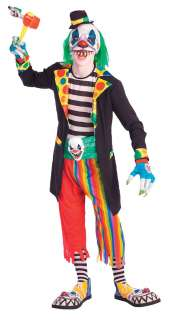 Teen Scary Evil Clown Costume   Teen Halloween Costumes