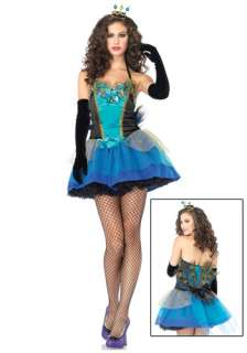 Blue Peacock Beauty Costume   Womens Sexy Peacock Costumes