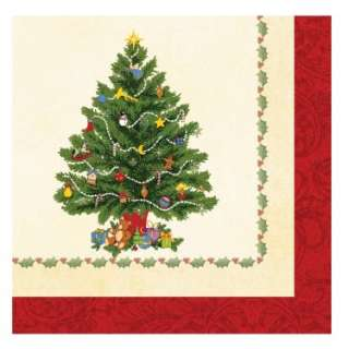 Splendid Tree Christmas Lunch Napkins (18 count)   Costumes, 79358
