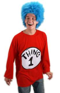 Dr Seuss Thing 1 T Shirt Adult Costume Kit (L/XL) for Halloween   Pure
