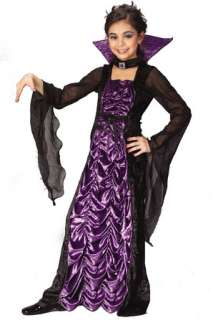 Black velvet dress with purple coffin cloth look inset, lace up front