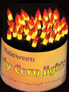 This candy corn light set is a great Halloween decoration thats sweet