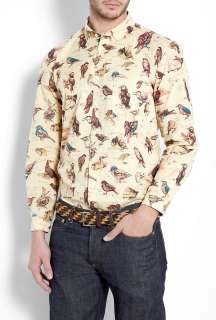 Barbour  Cream Bird Liberty Print Shirt by Barbour