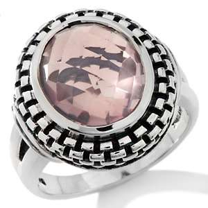 Hilary Joy 3ct Rose Quartz Sterling Silver Oval Ring