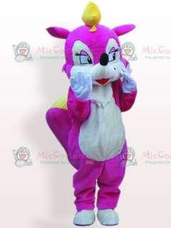 Rose Squirrel Plush Adult Mascot Costume  Rose Squirrel Plush Adult
