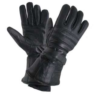 XG 1227 Gauntlet Motorcycle Leather Gloves W/rain Cover