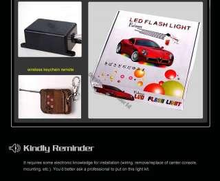 4pcs 7 Colors LED Under Car Glow Underbody System Neon Lights Strip