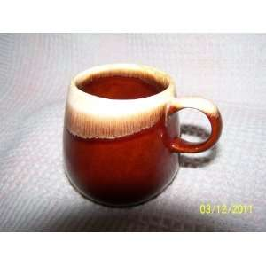 McCoy Coffee Cup Brown Drip Tone No. 7025 on bottom