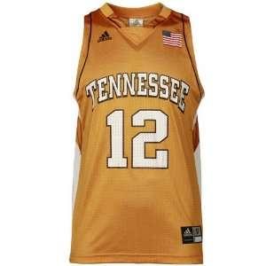 adidas Tennessee Volunteers #12 Orange Replica Basketball Jersey