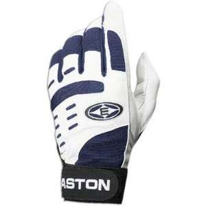 Easton Vent Air Adult Batting Gloves   White/Navy   XL
