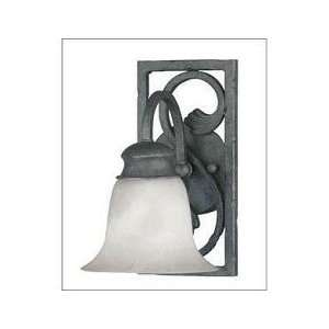 1 Light Sconce   Antique Pewter Finish  Cream Case Glass