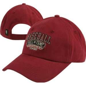 Baseball Hall of Fame Red Adjustable Hat Sports