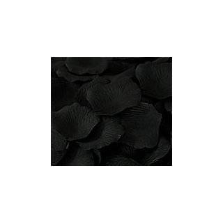 200 Black Silk Rose Petals Wedding Party Favors Patio