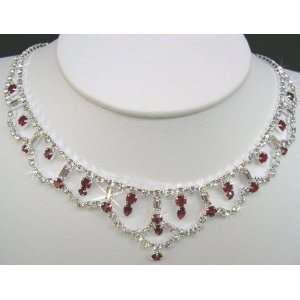 Crystal Necklace Set for Bridal Wedding Prom Pageant N1Z27