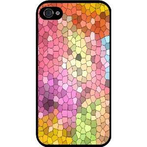 Glass Multi color Design Rubber Black iphone Case (with bumper) Cover