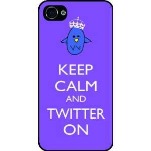 Twitter On Violet Color Rubber Black iphone Case (with bumper) Cover