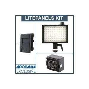 Litepanels MicroPro On Camera Dimmable 5600K LED Video Light   Bundle