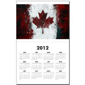 Print w Current Year Canadian Canada Flag Painting HD