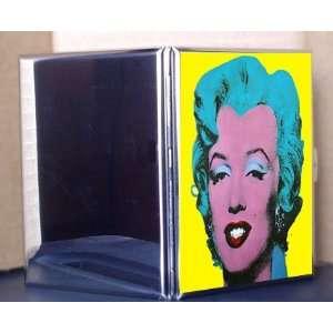 Andy Warhol Fine Art Metal Cigarette Case ID Holder Wallet Marilyn