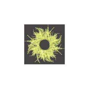 Whimsical Yellow Laser Artificial Christmas Wreath 16