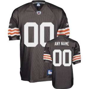 com Cleveland Browns Brown Authentic Jersey Customizable NFL Jersey