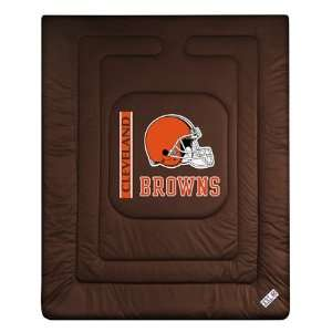 Cleveland Browns Twin Size Jersey Comforter Sports