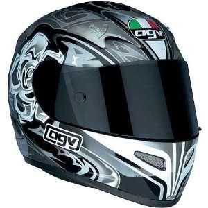 AGV Rose Ti Tech Sports Bike Racing Motorcycle Helmet   Black / 2X