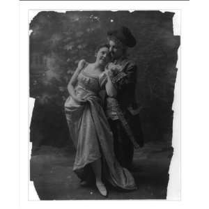 Historic Print (M) [Couple in dance costumes]