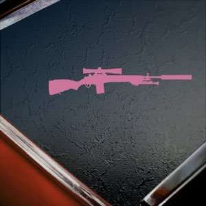 M14 M21 Crazy Horse M21A5 Rifle Pink Decal Car Pink