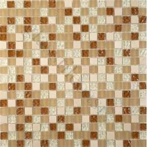 Crema Rain 5/8 x 5/8 Cream/Beige Crystile Squares Glossy
