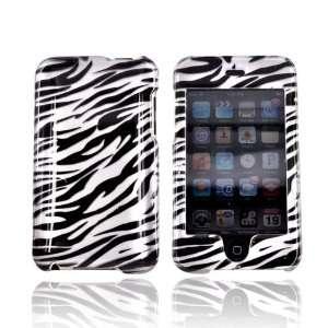 For Apple iPod Touch 2 3 Hard Case SILVER BLACK ZEBRA