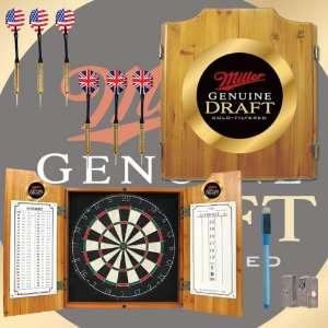 Miller Genuine Draft Dart Cabinet Set