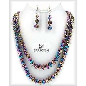 Earring Set, Aurora Borealis Crystal Beads Kikis Galaxy Fashion