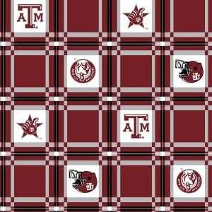 45 Wide Collegiate Tailgate Vinyl Tablecloth Texas A&M