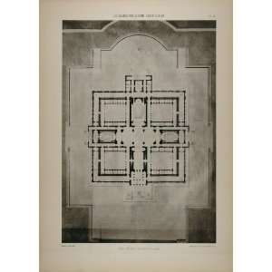 1902 Print Boitte Architecture Court of Law Floor Plan   Original