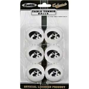 Iowa Hawkeyes Table Tennis Balls