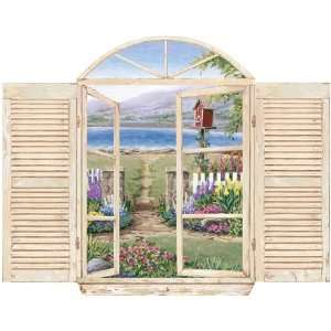 Garden Trellis Window Wall Decal
