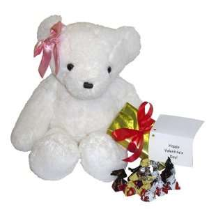 Red or Pink Ear Bow, Box of Chocolates, and Gift Note Toys & Games