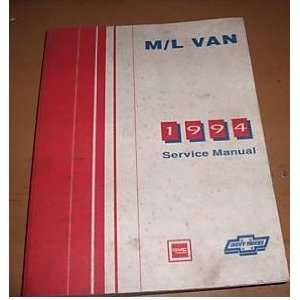 Chevrolet GMC M/L Van Shop Service Manual Oem gm  Books
