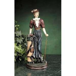 Nostalgic Lady Golfer Statue