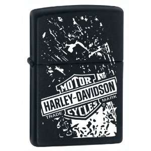 Zippo Harley Davidson Graphic Black Matte Lighter Kitchen