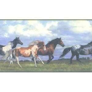 The Galloping Horses Wallpaper Border